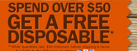 Fall Into Savings - Free Disposable with $50 Purchase - Save $10 on XL Variety Pack