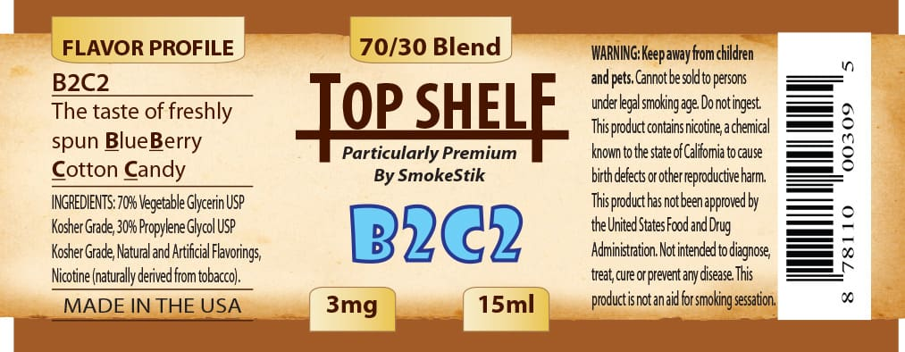 SmokeStik Top Shelf B2C2