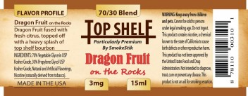 SmokeStik Top Shelf Dragon Fruit on the Rocks